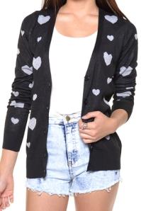 heart cardigan belladulce clothing