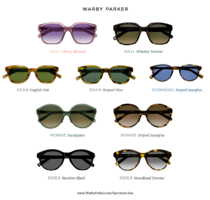 Warby Parker Spectrum Sun Collection