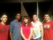 Red Star Model Management Owner Yulia and Models: Michael, Jermaine, Stefan, and Miguel